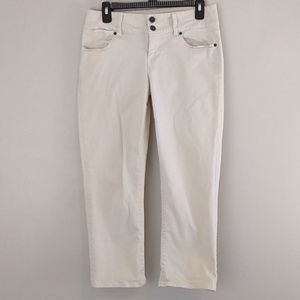 Talbots Signature crop jeans Ivory size 8 size 29